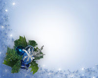蓝色圣诞节角落装饰品 皇族释放例证