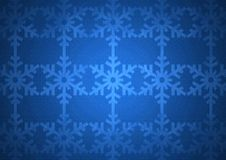 蓝色圣诞节雪花样式 库存图片