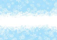 蓝色圣诞节雪花 免版税库存照片