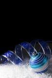蓝色圣诞节 库存照片