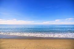 蓝色地中海 库存照片
