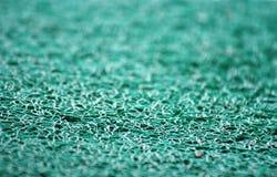 蓝色地毯特写镜头视图  免版税库存照片
