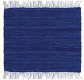 蓝色地毯黄麻 免版税图库摄影