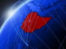 蓝色地球上的埃塞俄比亚与网络 皇族释放例证