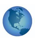 蓝色地球例证 免版税库存图片