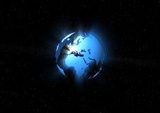 蓝色地球光芒 图库摄影