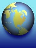 蓝色地球影子 向量例证
