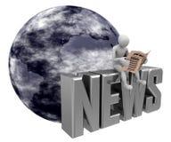 蓝色地球新闻 免版税库存图片
