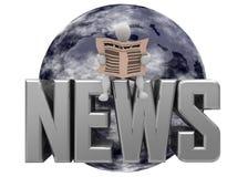 蓝色地球新闻 库存图片
