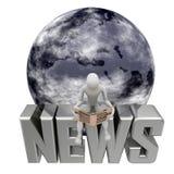 蓝色地球新闻 库存照片