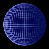 蓝色地球框架地球 免版税库存照片