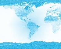 蓝色地球玻璃行星弄脏了 免版税库存照片