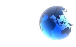 蓝色地球玻璃 皇族释放例证