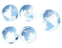 蓝色地球玻璃 免版税库存图片