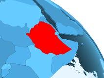 蓝色地球的埃塞俄比亚 库存例证