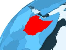 蓝色地球的埃塞俄比亚 向量例证
