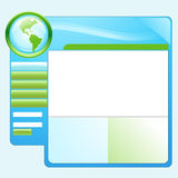 蓝色地球绿色模板网站 图库摄影