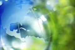 蓝色地球绿色 库存照片