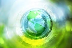 蓝色地球绿色 免版税图库摄影