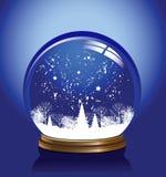 蓝色地球雪向量 向量例证