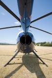 蓝色地面直升机 图库摄影
