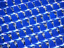 蓝色坐 免版税库存照片