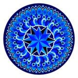 蓝色坛场样式 库存图片