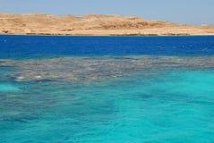蓝色埃及海运 库存照片