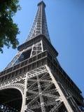 蓝色埃菲尔・巴黎天空塔 库存照片