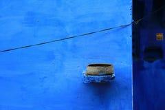 蓝色城镇 库存照片