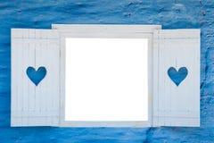 蓝色域绿色露天白色视窗 免版税库存照片
