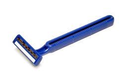 蓝色塑料剃刀安全性 图库摄影