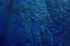 蓝色塑料布料纹理 库存图片