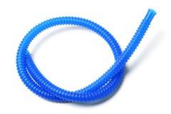 蓝色塑料管材 库存照片