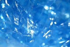 蓝色塑料纹理 库存图片