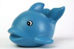 蓝色塑料鲸鱼 免版税库存照片