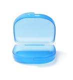 蓝色塑料贮存货柜 库存照片