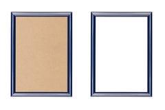 蓝色塑料画框 库存图片