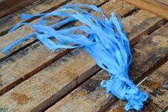 蓝色塑料绳索 免版税图库摄影