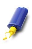 蓝色塑胶容器 库存照片
