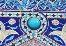 蓝色墙壁瓦片 免版税库存图片