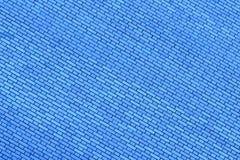 蓝色墙壁由背景和纹理的砖制成 免版税库存照片