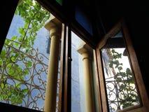 蓝色墙壁chaouen 库存图片