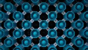 黑&蓝色墙纸按钮 免版税库存照片