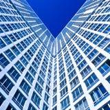 蓝色壁角房子现代新 免版税库存图片