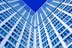 蓝色壁角房子 图库摄影