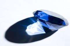 蓝色复制水晶金刚石影子形状空间 免版税库存图片