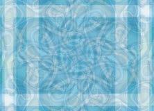 蓝色复杂模式数据条 免版税库存照片