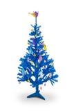 蓝色复活节树 库存图片