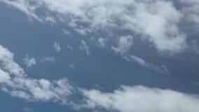 蓝色夏天多云天空时间间隔高定义 影视素材